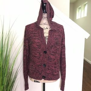 Maurice's 3 button knit cardigan with hoodie